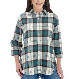 WRANGLER Retro Plaid Flannel Western Shirt NWT